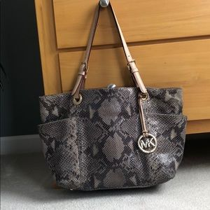 Authentic Michael Kors snake skin bag